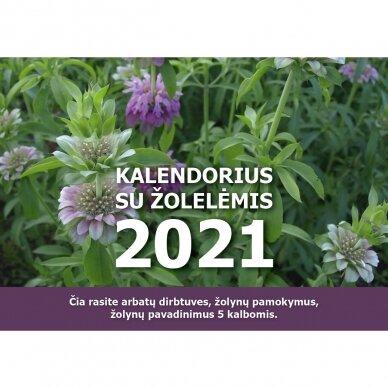 2021 metų kalendorius su žolelėmis