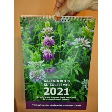2021 metų kalendorius su žolelėmis 2